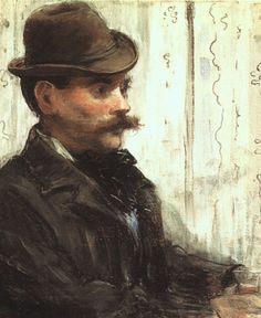 Édouard Manet (French, 1832-1883), L'Homme au chapeau rond, 1878. Art Institute of Chicago.