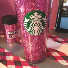 Pink. Glitter. Coffee. Need I say more?