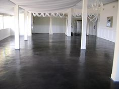 stained concrete flooring throughout the entire 1st floor