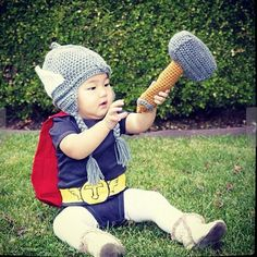 """""""Things that will make your Brovaries explode:"""" Babies dressed up as superheroes. One day this will be useful. ONE DAY."""