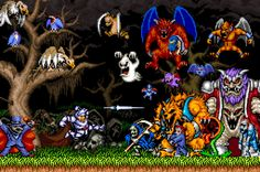 Ghouls 'n Ghosts Monsters Poster by NerdFuel