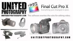 FCPX- Final Cut Pro DSLR Video Editing Courses 2014 This Apple based editing software has enabled DSLR video creators from the world of wedding, event, news journalism, fashion, web video, film and television.  To turnaround projects from HD to 4K quickly and affordably.  This training takes you through best practice workflows and project management of your video, stills, audio, timelines and sequences.