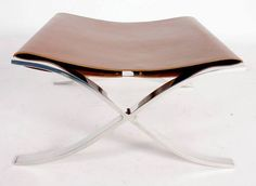 Lilly Reich Ludwig Mies van der Rohe: Barcelona Stool, 1929 Harlem Renaissance, Living Furniture, Cool Furniture, Modern Furniture, Bauhaus Furniture, Straight Line Designs, Art Deco, Ludwig Mies Van Der Rohe, Exhibition Display