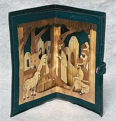 Folding Nativity Scene, Bangladesh. Wheat Straw. Asian Nativity Scenes from the Philippines, Nativities & Creches from Jakarta, Indonesia and Asia: Magellan Traders