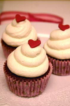 Tiny edible hearts for Valentine's Day