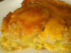 Green Tomato Casserole from Food.com: This time of year if your from the south, tomatos everywhere!! A friend of mine from the Pilot Club shared this with me several years ago. It's great hot or cold.