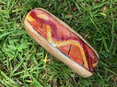 painted rocks hot dog
