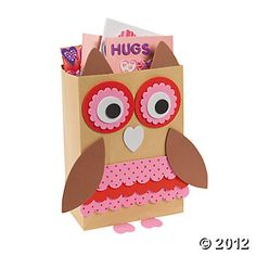 Valentines: Idea for class party, can use brown paper bag, cardstock