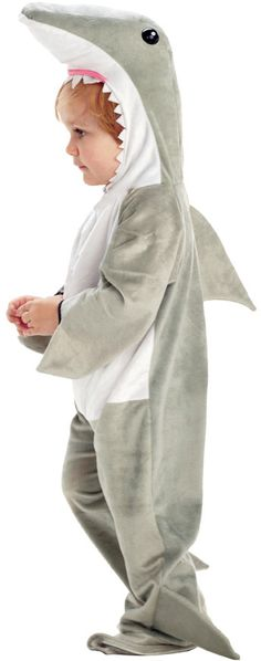 Toddler Boy's Costume: Shark 2T-4TJumpsuit with attached feet and character hood.Size: 2T-4TAge Group: Toddler