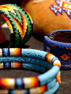 Bead work crafted by Northwestern Shoshone Indians. (Deseret Morning News archives)
