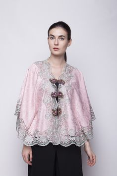 Jaquard Dusty Pink Blouse