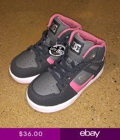 4e70dcef21d704 DC Rebound UL Kids Size 10 US Toddlers Battleship Pink BMX Skate Shoes  Sneakers