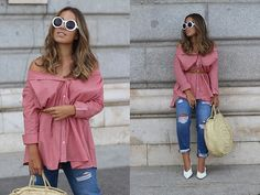 Ripped Jeans, Jean Shirts, Kurt Cobain, Sunglasses, Outfits, Style, Fashion, Tattered Jeans, Moda