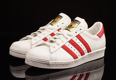 adidas Originals Superstar Deluxe 80s: White/Red