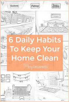 Today I am sharing my key to a CLEAN house. My secret is: 6 Daily Habits that will Keep Your Home Clean. Try them....they work!