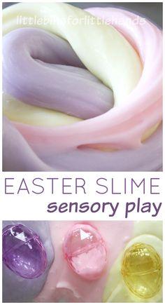 Easter Slime Easter Sensory Play Plastic Eggs