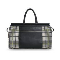 Plaid Weekender Tote - and of course I would take this with me for my MAKE UP ans supplies to Scotland with me!