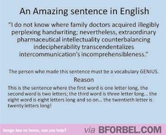 The most amazing sentence in the English language