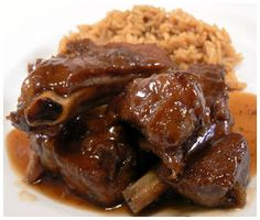 This Oxtail & Butter Beans Recipe is a classic Caribbean dish. It is comfort food at its best and it is a hearty meal made with affordable ingredients. The star ingredients are JCS Oxtail & Stew Seasoning and JCS Spicy Jerk Ketchup. Oxtail Recipes, Cuban Recipes, Beef Recipes, Cooking Recipes, Rock Recipes, Cooking Tips, Recipies, Oxtail Soup, Beef Oxtail