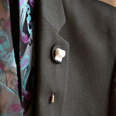 Make him laugh with this hilarious toilet paper lapel pin. This unique detail would perfectly compliment a prom or groomsman tux. It's a unique detail that is sure to spark conversations!