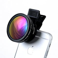 Cell Phone Camera Lens – TURATA 2 in 1 Professional HD Camera Lens Kit [0.45X Wide Angle Lens + 12.5X Macro Lens] Clip-on Design for iPhone…