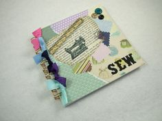 Scrapbook, Notebook or Journal, Sewing Inspired £5.25