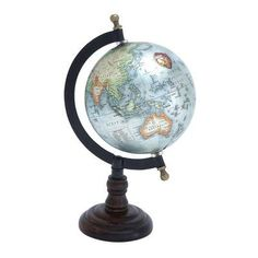 Woodland Imports Beautiful Metal Wood Globe