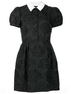 Saint Laurent floral embossed shirt dress