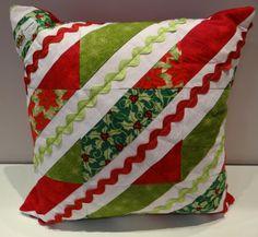 Almofada de Natal com Tecido Patchwork Circulo!