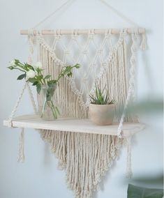 #macrameshelf #flatingshelf #hangingshlef #wallshelf #bookshelf #bohotapestry #macrameplanthanger #macramewallhanging #macramehangingplanter #macramewalldecor #crochetshelf #woodenshelf #ropehanger #wovenwalldecor #bohotapestry #etsy #etsyfinds #housewarminggifts #giftsforher #macramelove #wallplanter ##macrameplanthanger #macramelove #macramemaker #macramesupply #hangingplanter #planthanger #vintagemacrame #ropeplanthanger #crochetplanthanger #decorativeplanter #houseplants #plantlovergifts Macrame Plant Hanger Patterns, Macrame Plant Hangers, Macrame Patterns, Wall Plant Hanger, Plant Wall, Plant Shelves, Hanging Shelves, Wall Shelves, Macrame Supplies