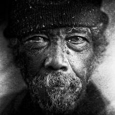 Lee Jeffries Black and White Portrait