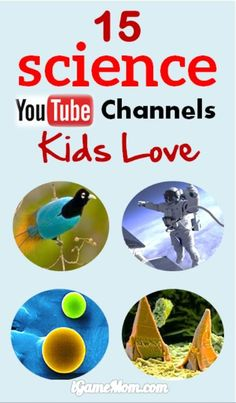 15 cool channels kids love - science behind everyday phenomenon, watch fascinating science experiments, see science explanation of unexpected questions. Kid Science, Science Videos For Kids, Kindergarten Science, Science Resources, Middle School Science, Science Experiments Kids, Science Lessons, Science Education, Teaching Science