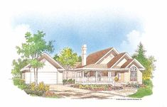 Eplans Country House Plan - Sized Right - 1253 Square Feet and 3 Bedrooms from Eplans - House Plan Code HWEPL07171