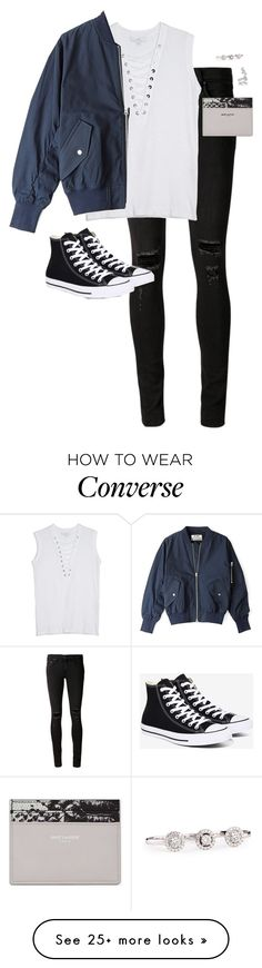 """Untitled #12200"" by alexsrogers on Polyvore featuring rag & bone/JEAN, OTTE, Converse, Acne Studios, Yves Saint Laurent, Messika and Ryan Storer"