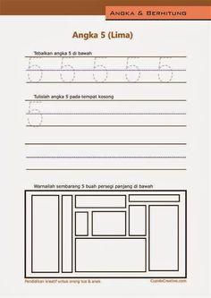 belajar angka paud (anak balita/TK), menulis 1-10, angka 5