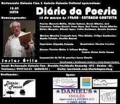 Agenda Cultural RJ: Diário da Poesia - dia 18 de março às 19h00, no Re...