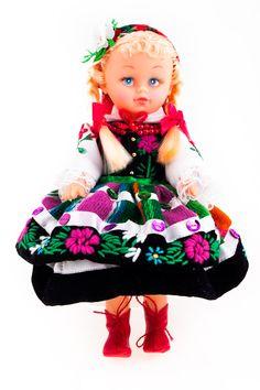 Łowicki strój regionalny - lalka ludowa ubrana w strój Mazowsza - 23 cm - Folkstar.pl
