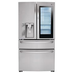 LG Electronics 23 cu. ft. 4-Door French Door Refrigerator with InstaView Door-in-Door in Stainless Steel (Silver), Counter Depth
