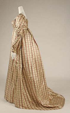 Dress: ca. 1800, British, silk.