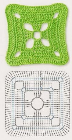 Transcendent Crochet a Solid Granny Square Ideas. Inconceivable Crochet a Solid Granny Square Ideas. Crochet Motifs, Crochet Blocks, Granny Square Crochet Pattern, Crochet Diagram, Crochet Chart, Crochet Squares, Love Crochet, Crochet Granny, Crochet Doilies