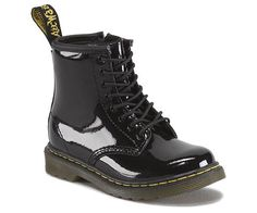Doc Marten Brooklee - Patent Leather Black Boots Toddler