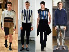 aktuelle Männermode Herrenhosen Trends Streifen                                                                                                                                                      Mehr