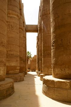 The Great Hypostyle Hall of Karnak, located within the Karnak temple complex, in the Precinct of Amon-Re.