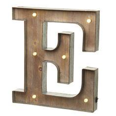 Alphabet Letter LED Light E