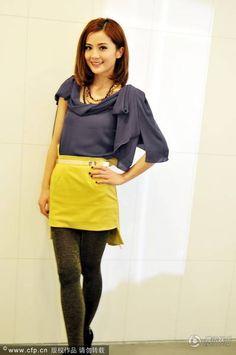 Charlene Choi - Colour block.