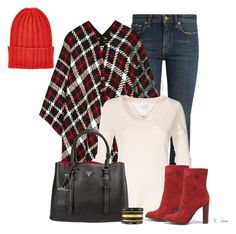 """""""It's beginning to look a lot like......"""" by ksims-1 ❤ liked on Polyvore featuring Yves Saint Laurent, Boutique Moschino, Schutz, Prada, The Elder Statesman, Cartier and Ashley Pittman"""