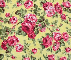 1950's Rose Fabric- Wallpaper?