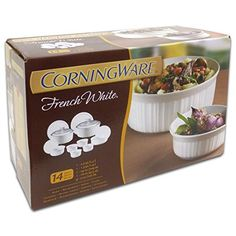 CorningWare 1094026 French 14-Piece Bakeware Set, White * For more information, visit image link.