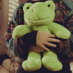 Frog Pictures, Cute Pictures, Cute Stuffed Animals, Cute Animals, Dinosaur Stuffed Animal, Frog Art, Cute Frogs, Green Frog, Frog And Toad