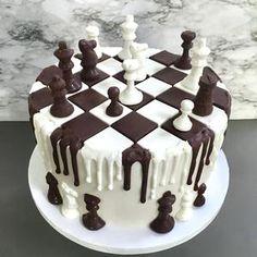 Creative Cake Decorating, Cake Decorating Videos, Cake Decorating Techniques, Creative Cakes, Chess Cake, Chocolate Candy Melts, Chocolate Molds, Cake Kit, Buttercream Recipe
